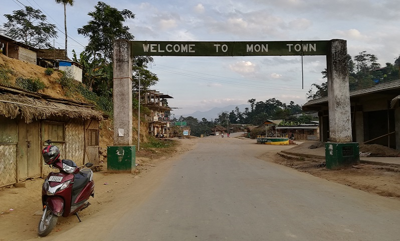 Entrance Gate Of Mon Town on A Trip To Longwa