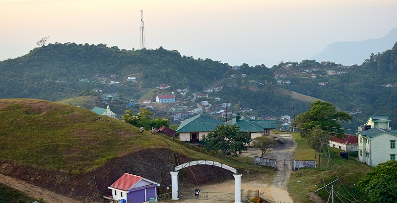 Hmuifiang Town Seen From the Nearby Hill