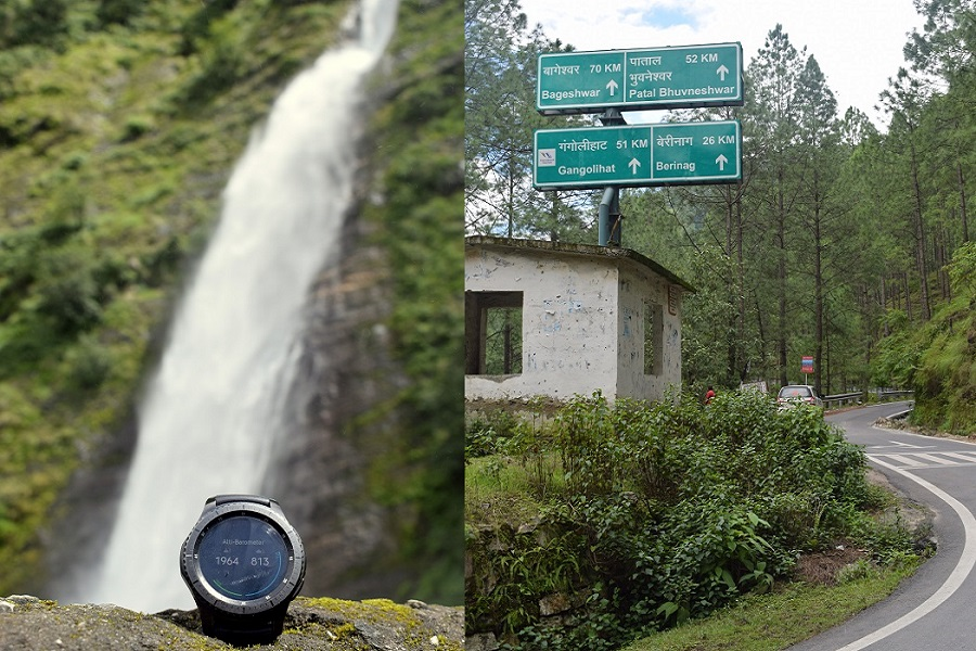 My Watch Near Birthi Waterfall In Uttrakhand