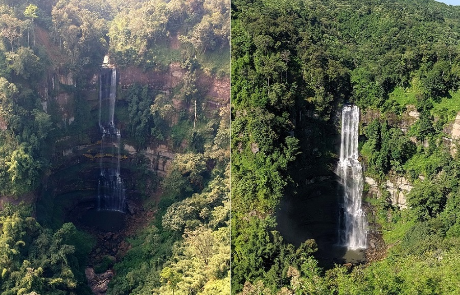 Vantwang Waterfalls Seen In Monsoon Season Vs Post Monsoon Season