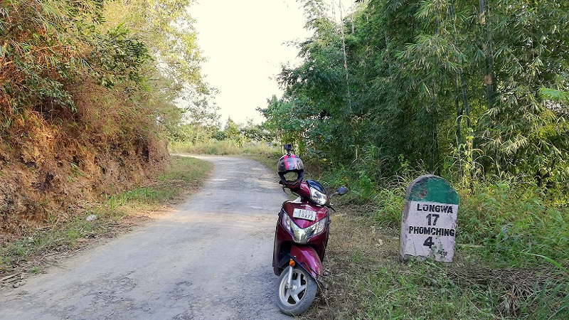 Road Condition On Bike Ride To Longwa Village