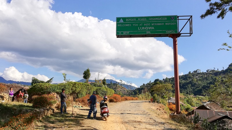 Sign Board At Longwa Village In Nagaland
