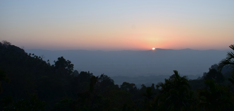 Sunrise seen from Jampui Hills In Tripura