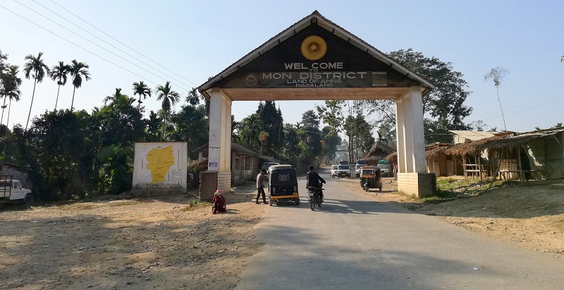 Tizit Town The Border Village Between Assam And Nagaland
