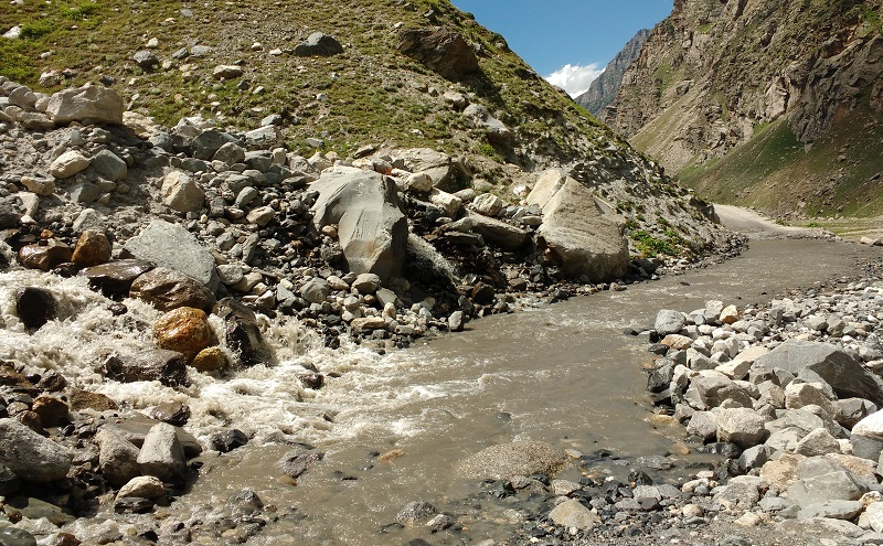 Water Crossing Between Leh and Pangong Tso Lake